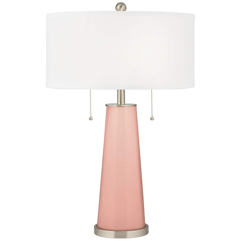 Rustique Warm Coral Peggy Glass Table Lamp