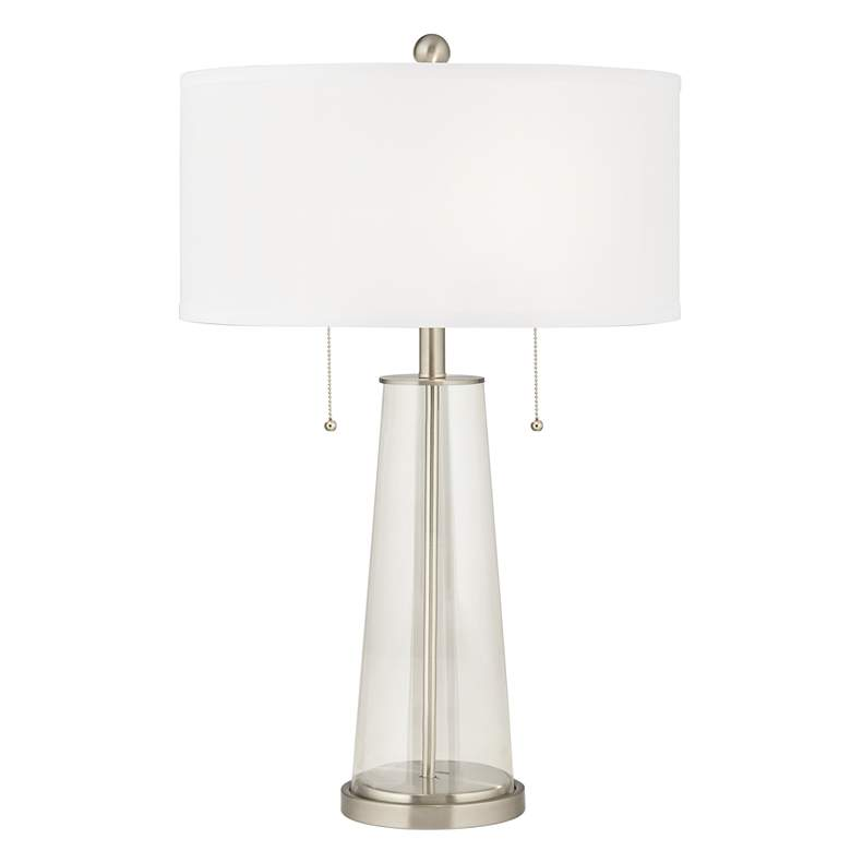 Clear Glass Fillable Peggy Glass Table Lamp