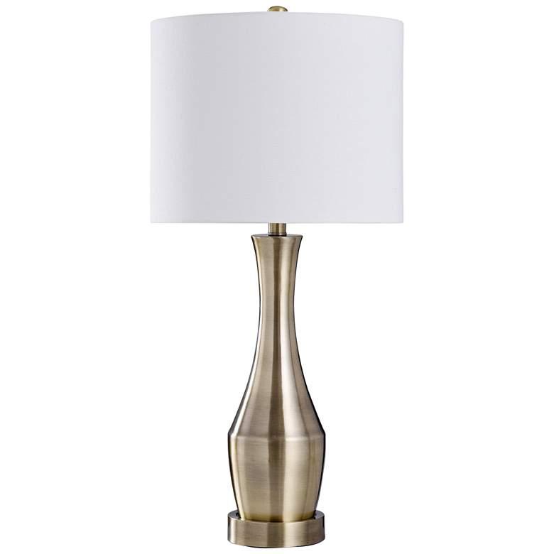 Ella Antique Brass Metal Vase Table Lamp