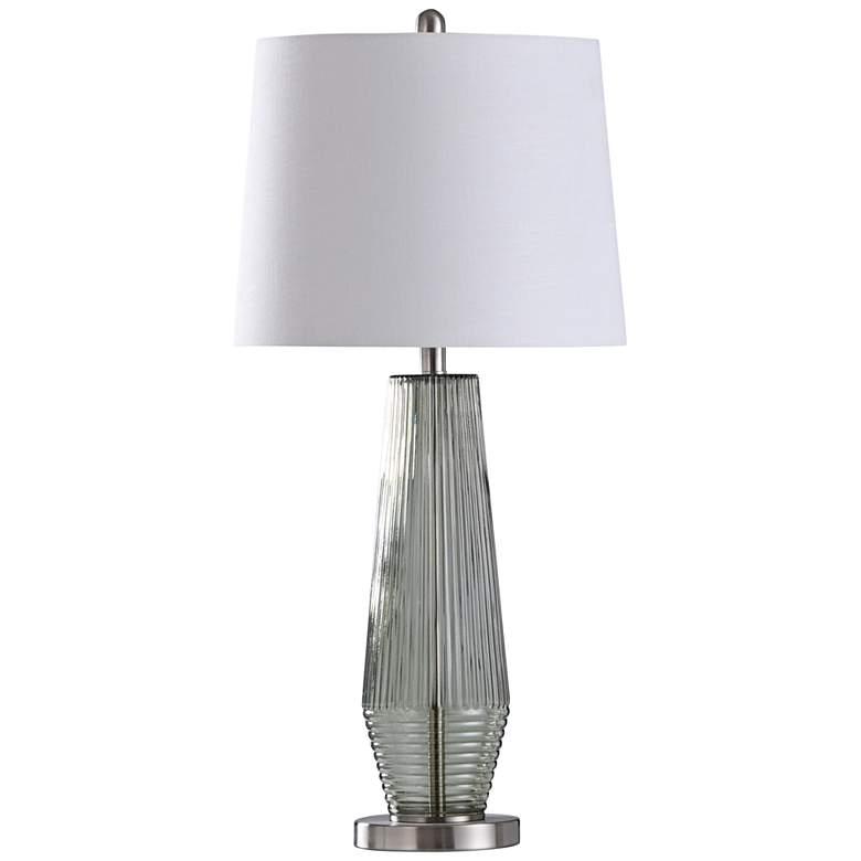 Erica Light Sage Green Glass Table Lamp