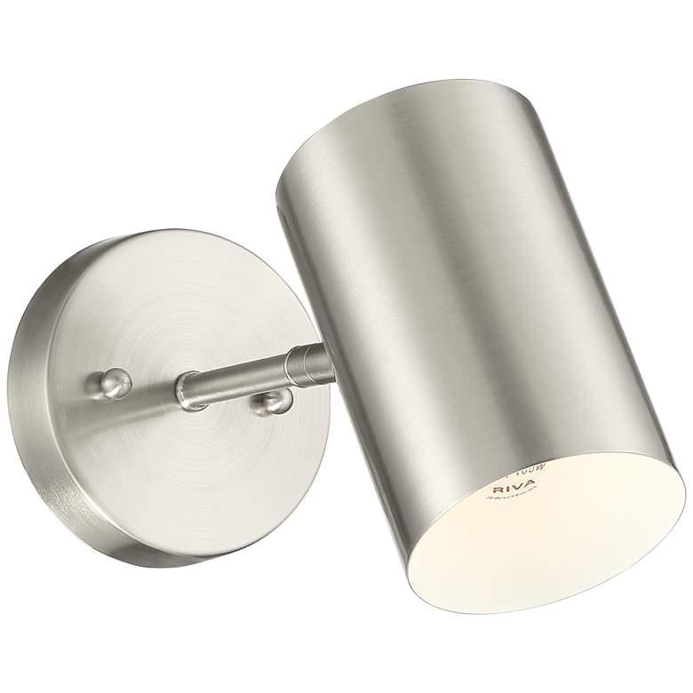 Carla Brushed Nickel Down-Light Hardwire Wall Lamp