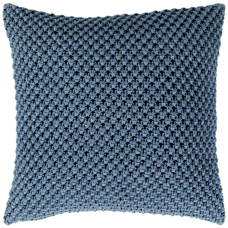 "Surya Godavari Denim Cotton 18"" Square Decorative Pillow"