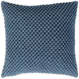 "Surya Godavari Denim Cotton 22"" Square Decorative Pillow"