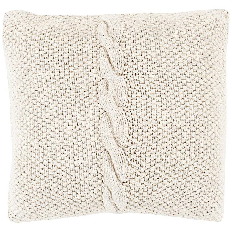 "Surya Genevieve Ivory Cotton 20"" Square Decorative Pillow"