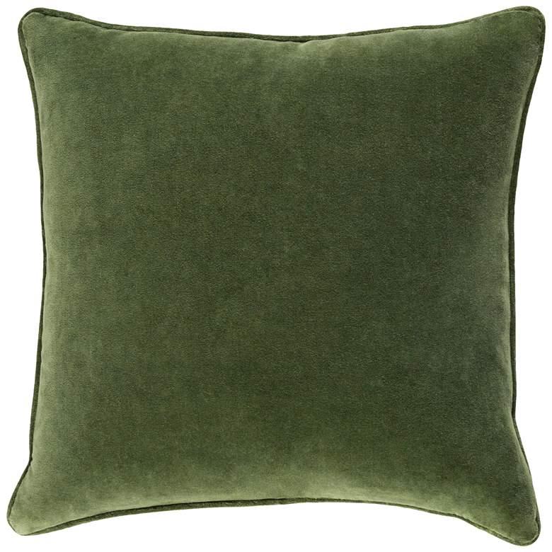 "Surya Safflower Grass Green 18"" Square Decorative Pillow"