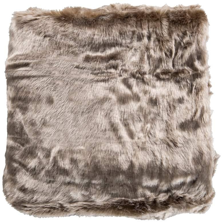 Surya Innu Camel Taupe Faux Fur Decorative Throw Blanket