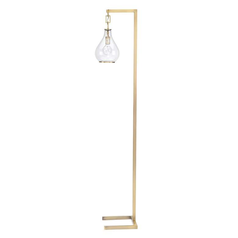 Jamie Young Tear Drop Brass Floor Lamp