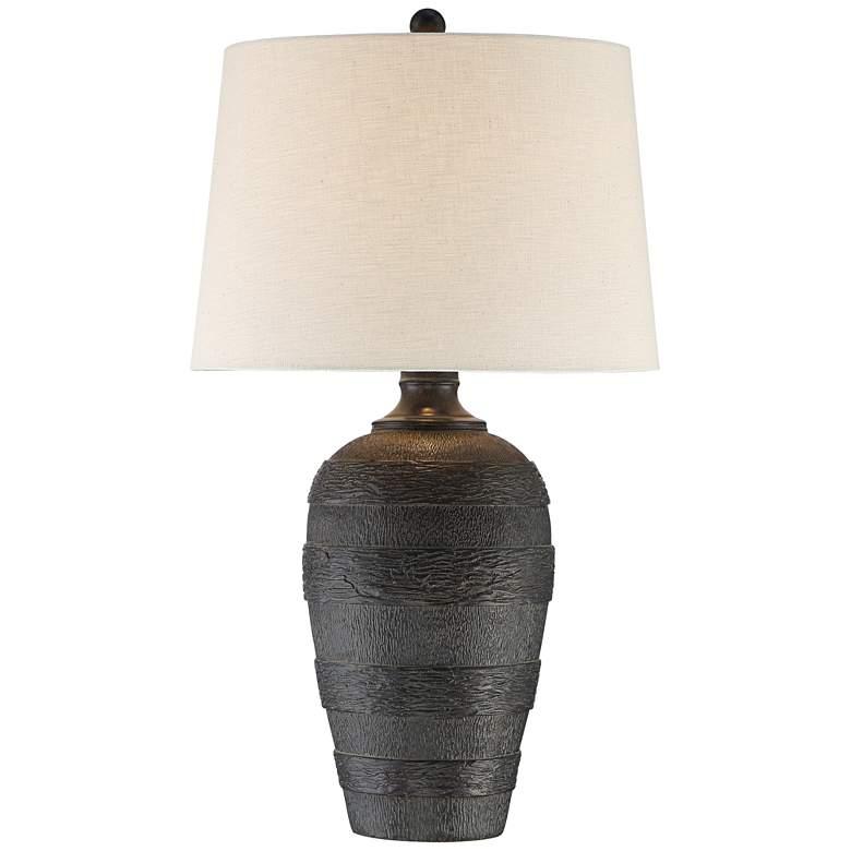 Coloma Black Resin Modern Rustic Table Lamp