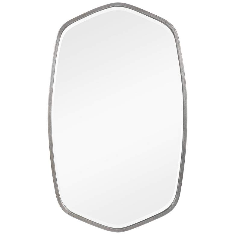 """Duronia Brushed Silver 22 1/4"""" x 36 1/4"""" Wall Mirror"""