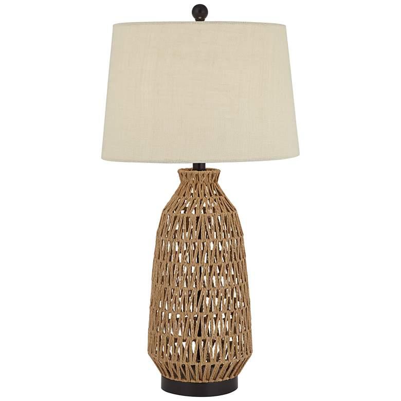 San Carlos Rattan Wicker Table Lamp