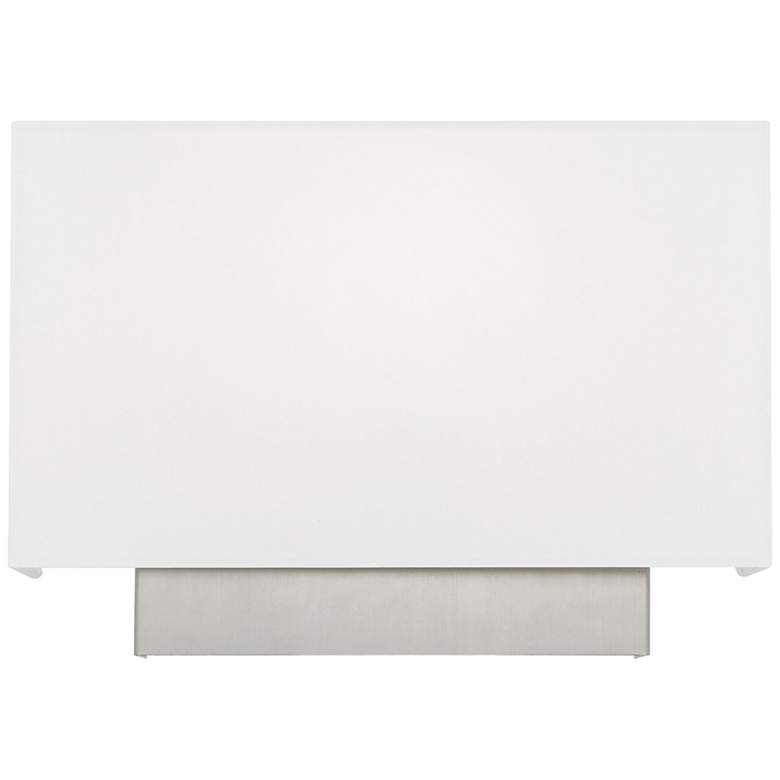 "Clark 14"" Wide Brushed Nickel White Shade Rectangular Wall Sconce"