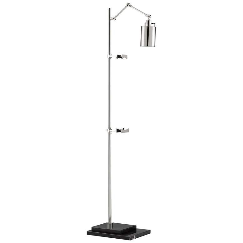 Currey and Company Strada Polished Nickel Floor Lamp