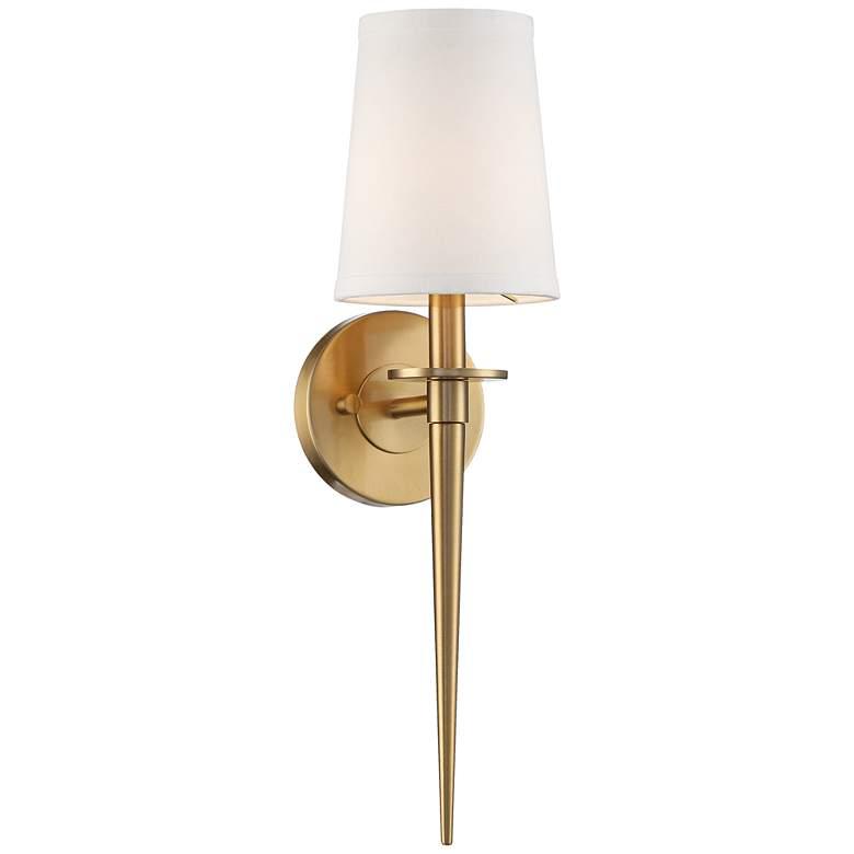 "Possini Euro Danielle 19"" High Warm Antique Brass Wall Sconce"
