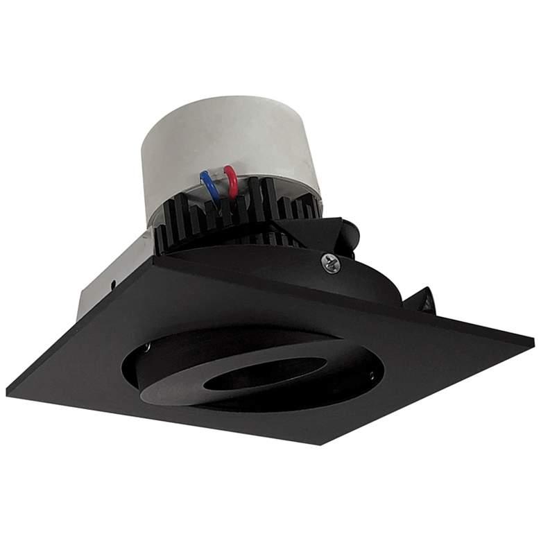 """Pearl 4"""" Black LED Square Adjustable Gimbal Retrofit Trim"""
