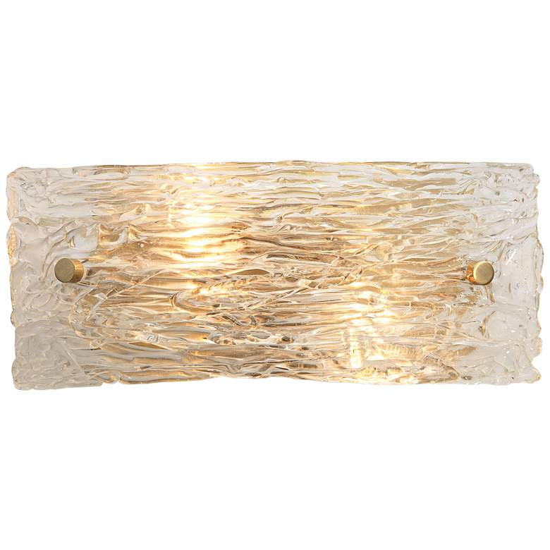 """Jamie Young Swan 4 1/2"""" High Curved Clear Glass Wall Sconce"""
