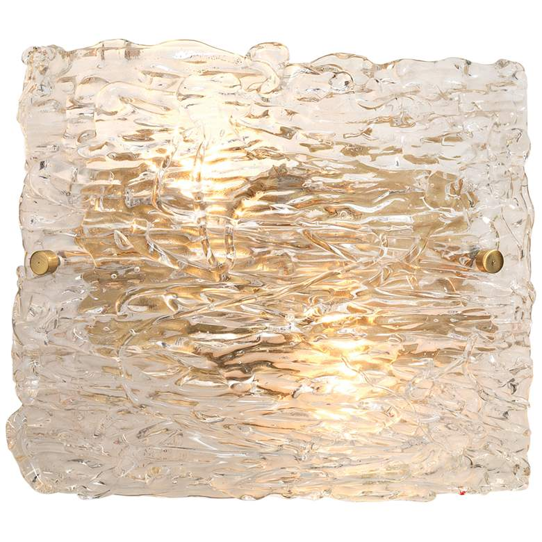 """Jamie Young Swan 9 1/2"""" High Curved Clear Glass Wall Sconce"""