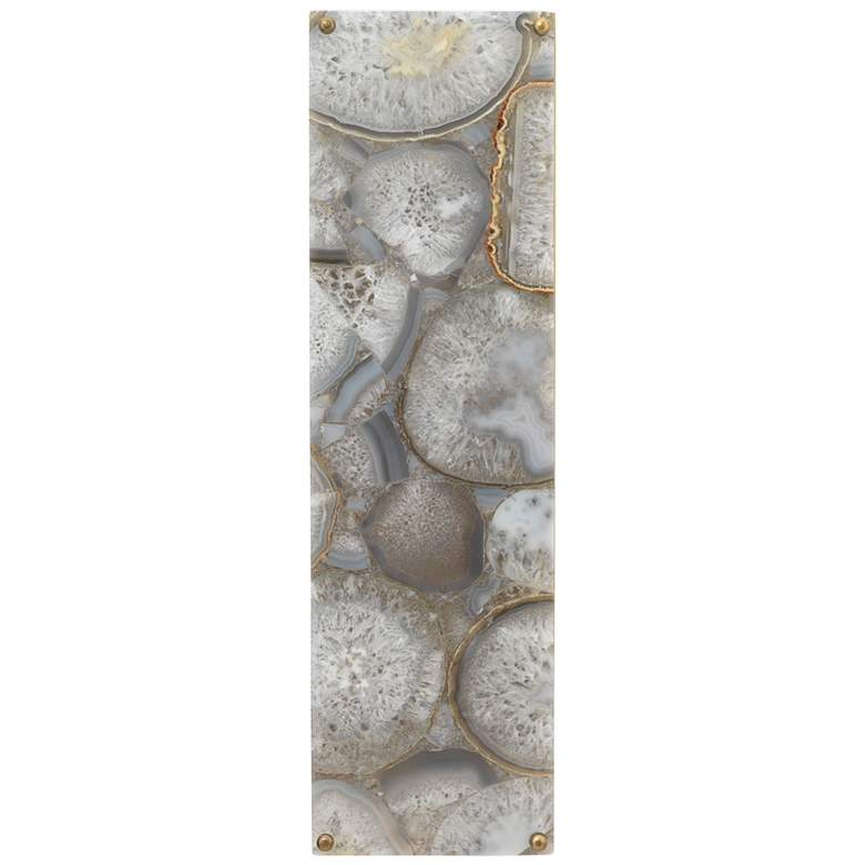 """Leopold 19"""" High Natural Agate Stone Rectangular Wall Sconce"""