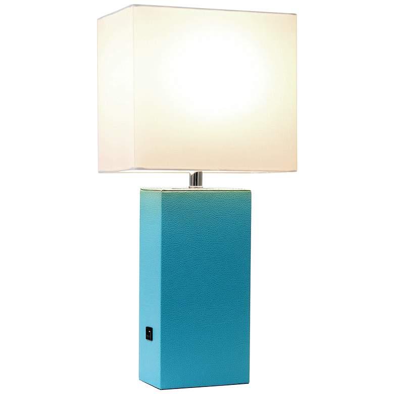 Elegant Designs Mod Leather Table Lamp