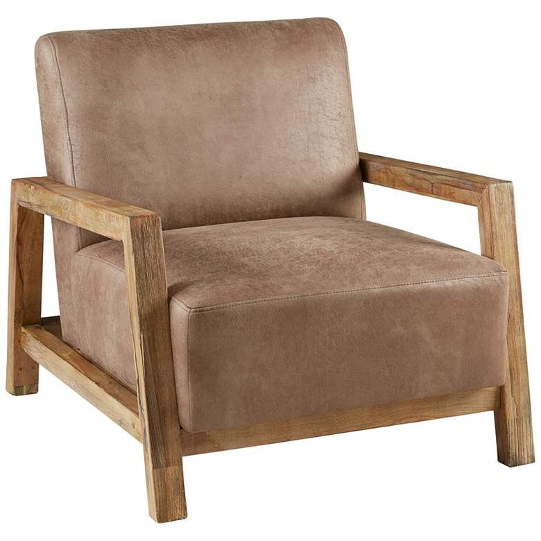 INK+IVY Easton Taupe and Natural Accent Chair