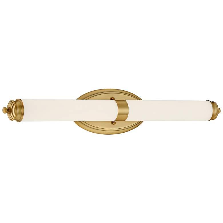 """Madison 27 1/4"""" Wide Brushed Gold Metal Bar LED Bath Light"""