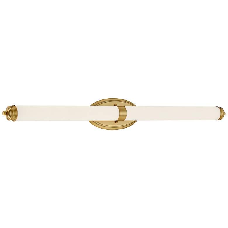 """Madison 39 1/4"""" Wide Brushed Gold Metal Bar LED Bath Light"""