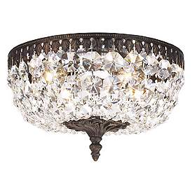 Schonbek Rialto Collection 10 Wide Crystal Ceiling Light