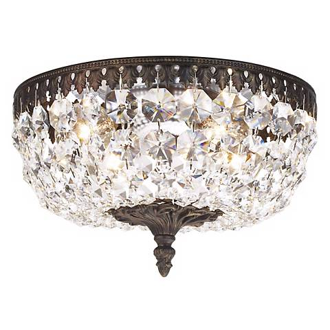 """Schonbek Rialto Collection 10"""" Wide Crystal Ceiling Light"""