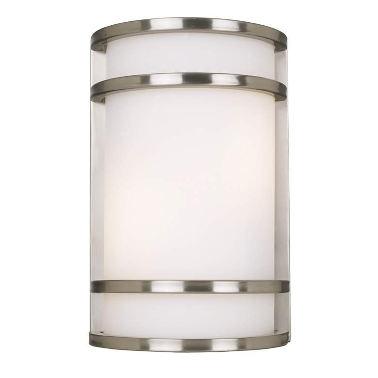 """Bay View Collection 12"""" High Steel Finish Outdoor Wall Light"""