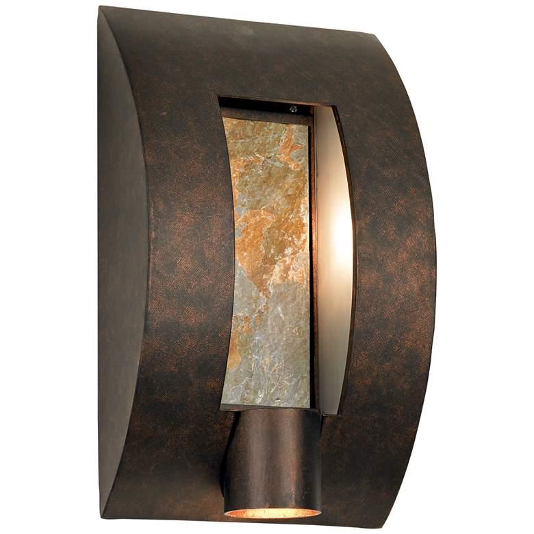 """Framed Slate 16"""" High Bronze Outdoor Wall Light"""