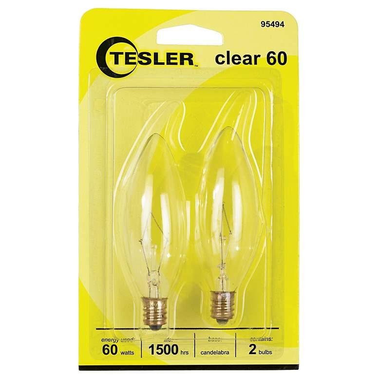 Tesler 60 Watt 2-Pack Blunt Tip Candelabra Light Bulbs
