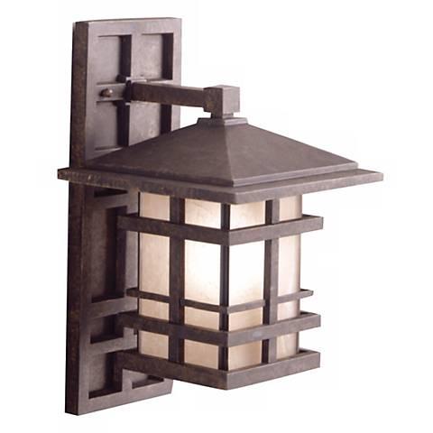 "Kichler Aged Bronze 16"" High Outdoor Wall Light"