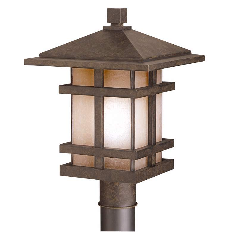 "Cross Creek Collection 17"" High Outdoor Light Post Mount"