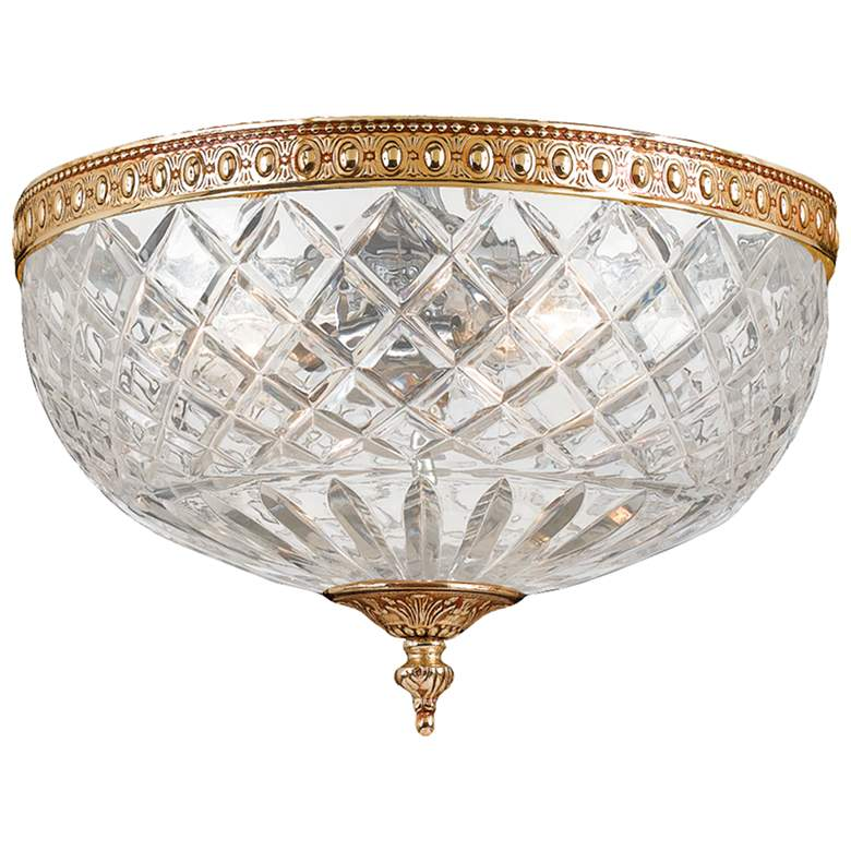 """Crystorama Ceiling Mount 8"""" Wide Olde Brass Ceiling Light"""