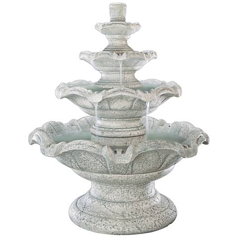"Henri Studio 54"" High Quattro 4-Tier Outdoor Fountain"