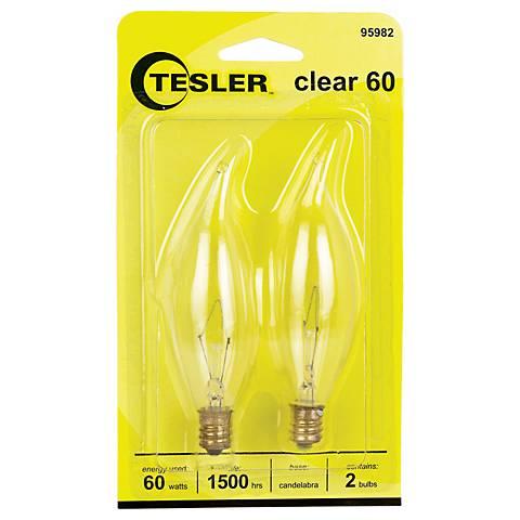 Tesler 60 Watt 2-Pack Bent Tip Candelabra Light Bulbs
