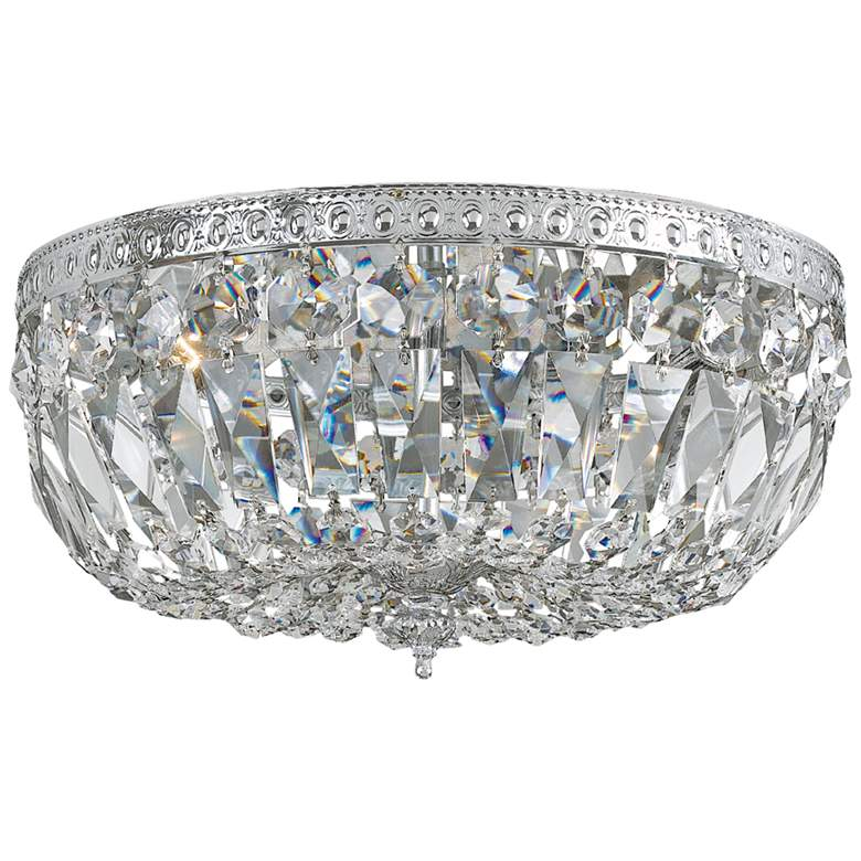 "Crystorama Ceiling Mount 16"" Wide Chrome 3-Light Ceiling Light"