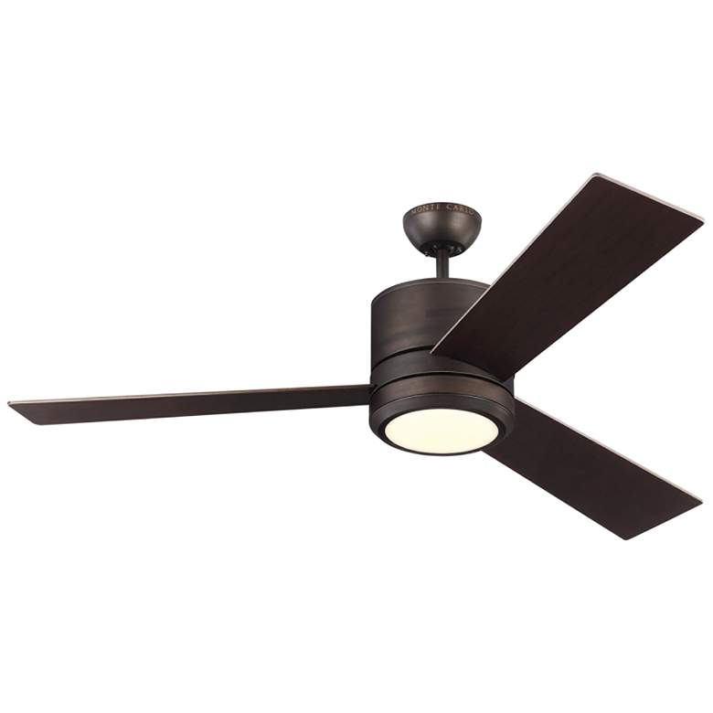 "56"" Monte Carlo Vision Max Roman Bronze Outdoor LED Ceiling Fan"