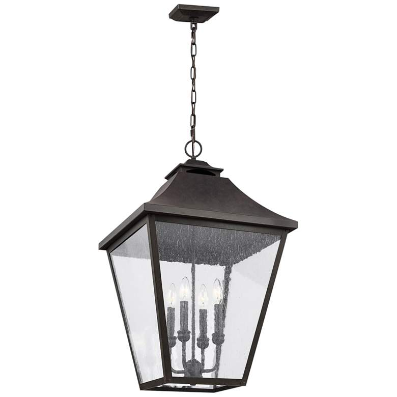 """Feiss Galena 29 1/4"""" High Sable Outdoor Hanging Light"""