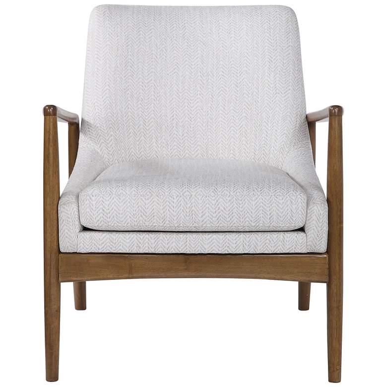 Uttermost Bev White Chevron Accent Chair