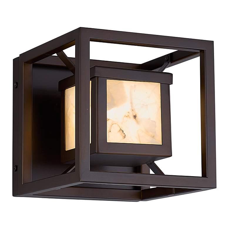 "Alabaster Rock Bayview 6 1/2"" Wide Dark Bronze LED Outdoor Wall Light"