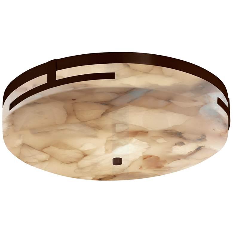 """Alabaster Rocks Atlas 18 1/2"""" Wide Dark Bronze LED Ceiling Light"""