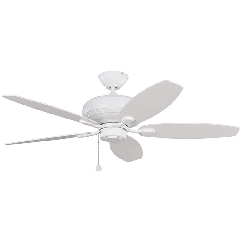 """52"""" Monte Carlo Centro Max Matte White Ceiling Fan"""