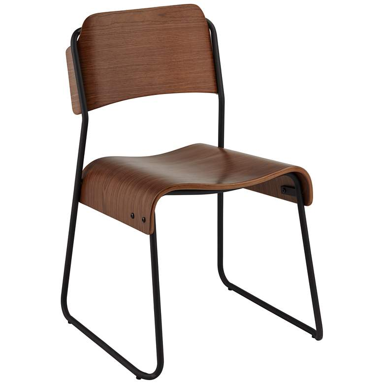 Mael Modern Bentwood and Steel Chair