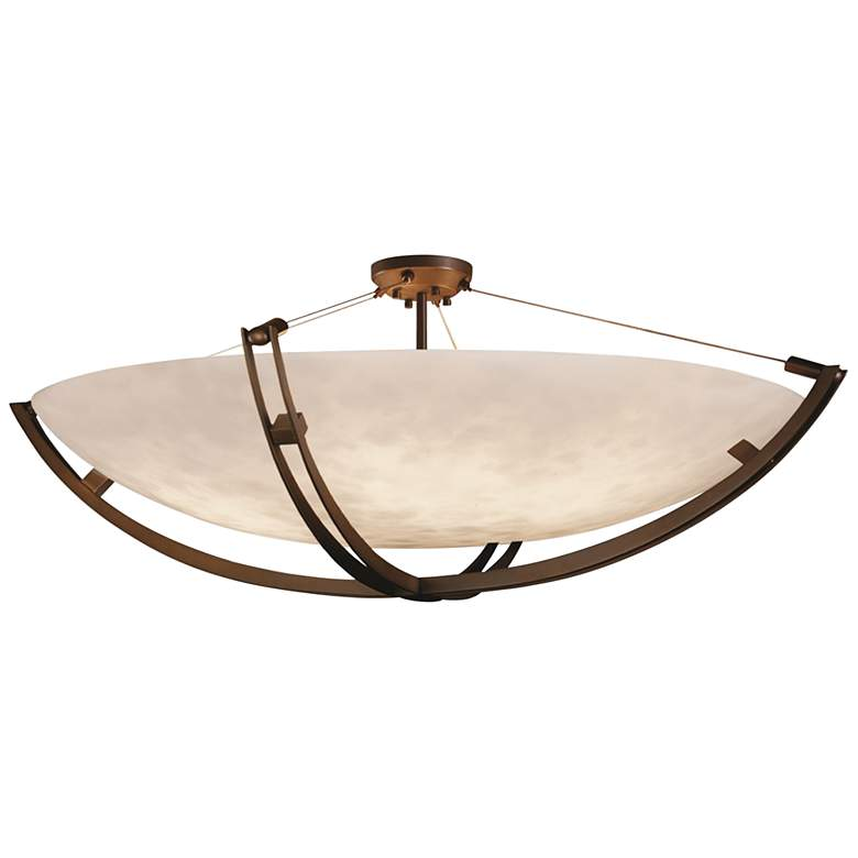 """Clouds Collection Crossbar 69"""" Wide Dark Bronze LED Ceiling Light"""