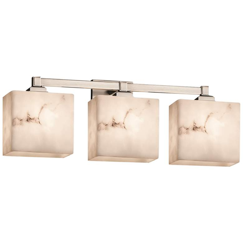 "LumenAria Regency 23 1/2""W Brushed Nickel LED 3-Light Bath Light"