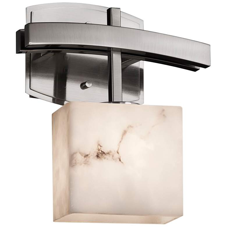 "LumenAria Collection Archway 10 3/4""H Brushed Nickel LED Wall Sconce"