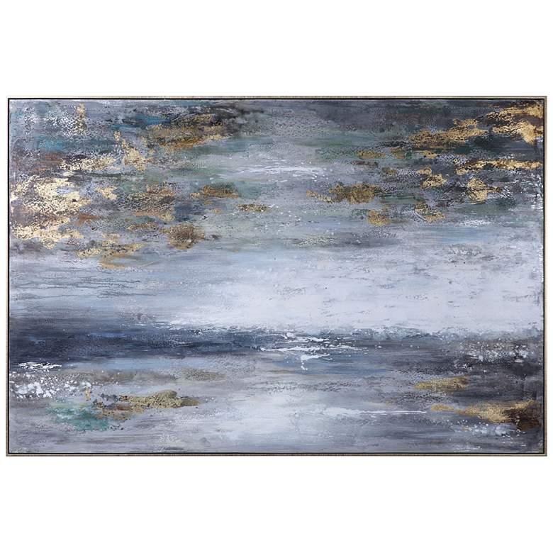 "Uttermost Dawn to Dusk 73"" Wide Framed Canvas Wall Art"