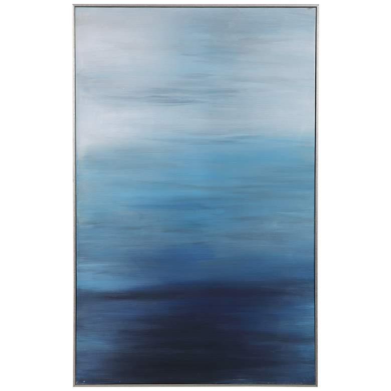 "Uttermost Moonlit Sea 62 3/4"" High Framed Canvas Wall Art"