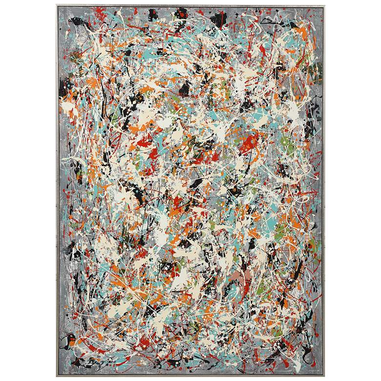 "Organized Chaos 60 3/4"" High Framed Canvas Wall Art"