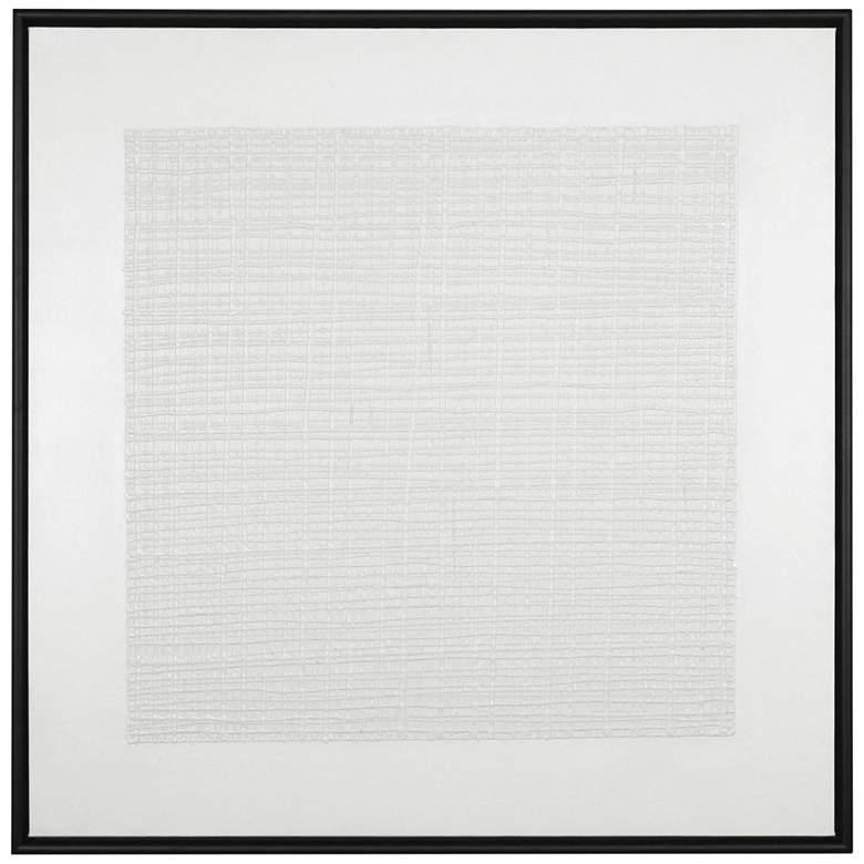 "Uttermost Gridlock 42"" Square Framed Canvas Wall Art"